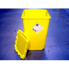 Box incineration for clinical waste with cap square non-sterile polyethylene 60 litre yellow Wiva