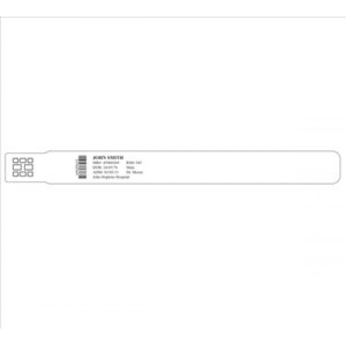 image about Printable Wristband named Printable client id wristband Grownup white